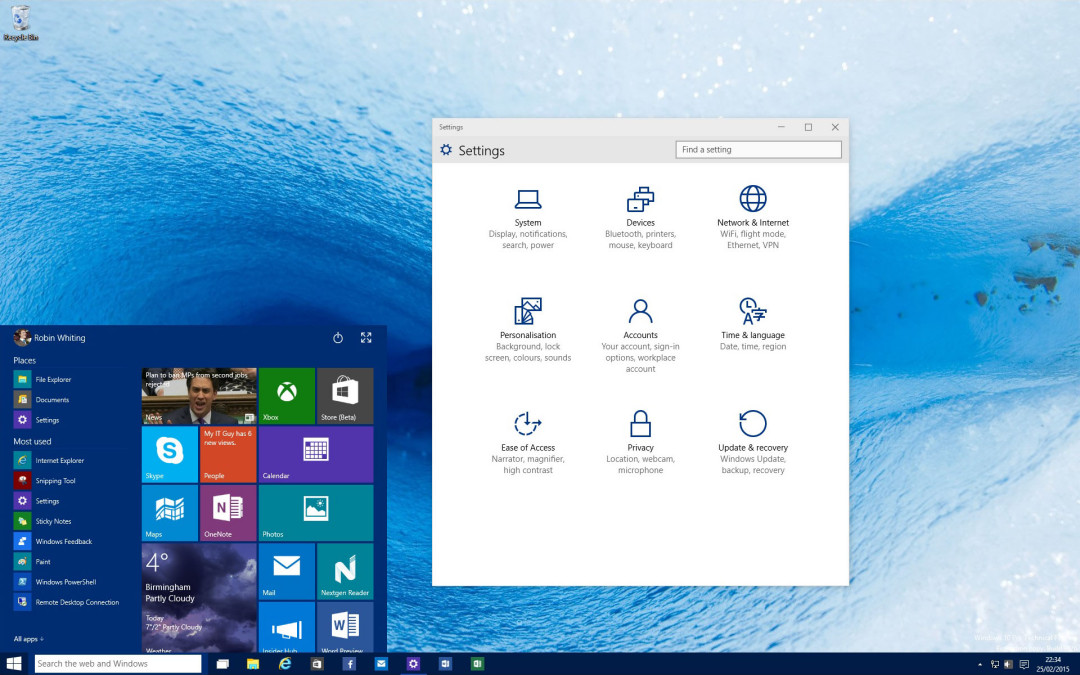 Windows 10 – Don't worry! Everything will be all right…
